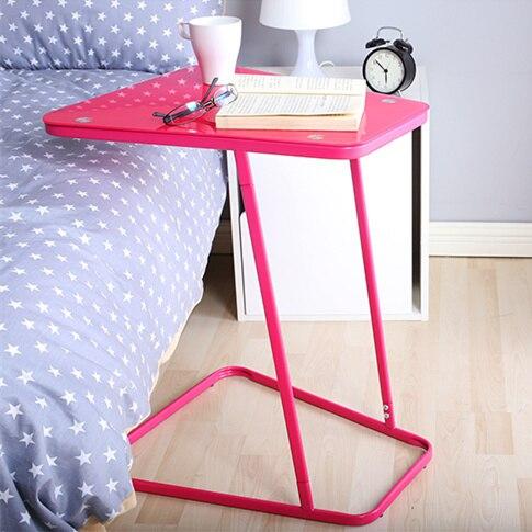 Creative Ikea Verre Petite Table Bureau Portable Pc Portable Rouge