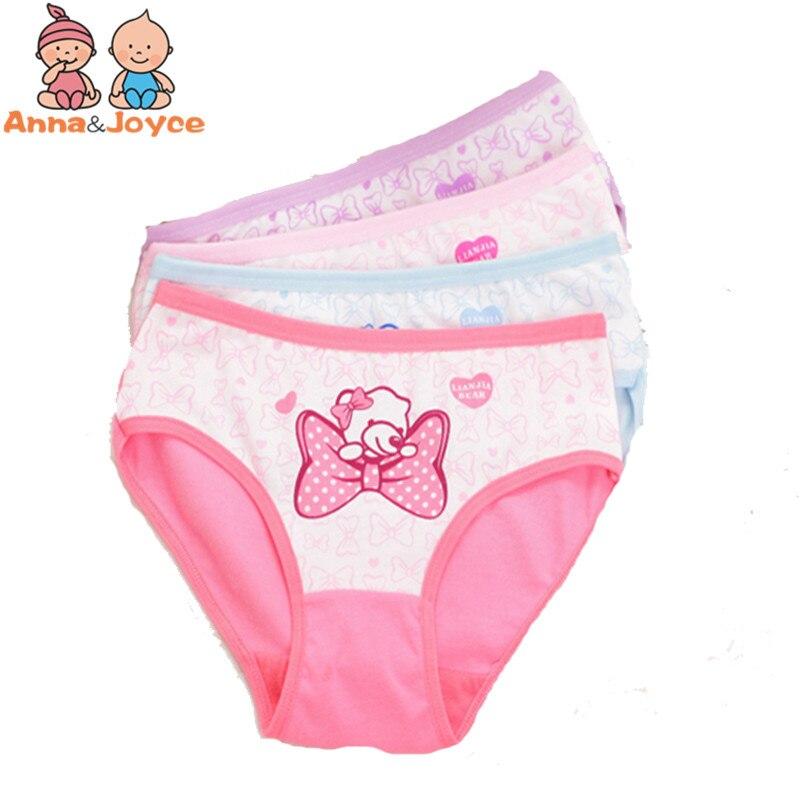 4pcs/lot Cartoon  Panties Cotton Short Pants Cartoon Panties Girls' Underwear  suit2-years 1