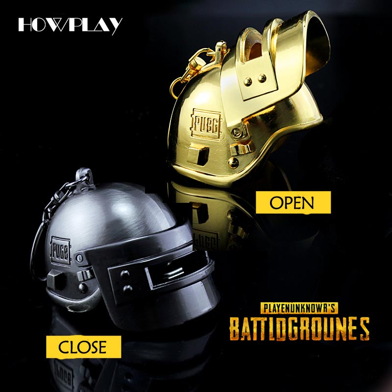 HowPlay Takerlama Game Playerunknowns Battlegrounds Keychain PUBG Level 3 Helmet Around the game war weapon gift Cosplay Props