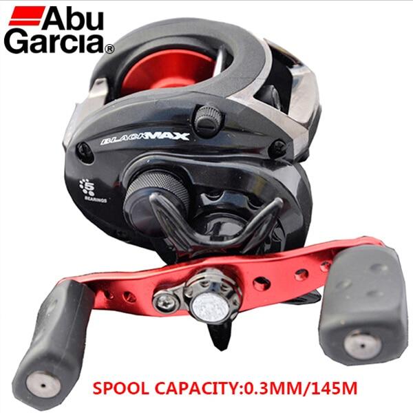 ФОТО Winter Fishing Reel Abu Garcia Baitcasting Black Water Drop Wheel Right Hand Trolling Reels 4+1BB 6.4:1 Hot Sale