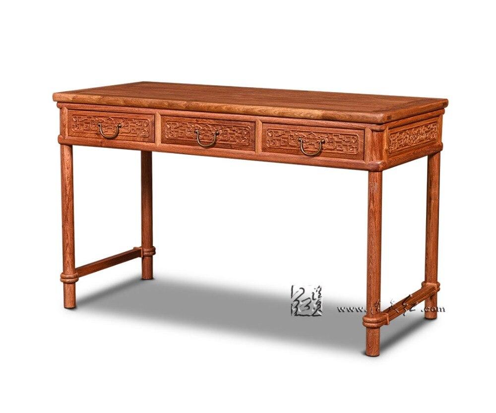 Простая мебель для дома и офиса столешница из розового дерева классические антикварные компьютерные книжные столы из цельного дерева Retangle