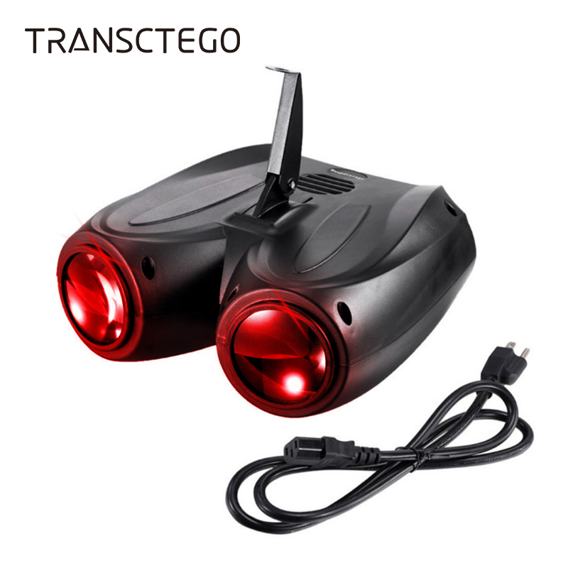 20W 128 LED Disco Light RGBW Double Head Airship Laser Projector Lamp Christmas Stage Effect Sound Activated Disco Party Lamp|Stage Lighting Effect| |  - title=
