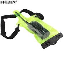 Радио Водонепроницаемый сумка Зеленый для Kenwood Motorola Baofeng UV-5R BF-888S UV-82 Quansheng HYT Walkie Talkie двухстороннее радио