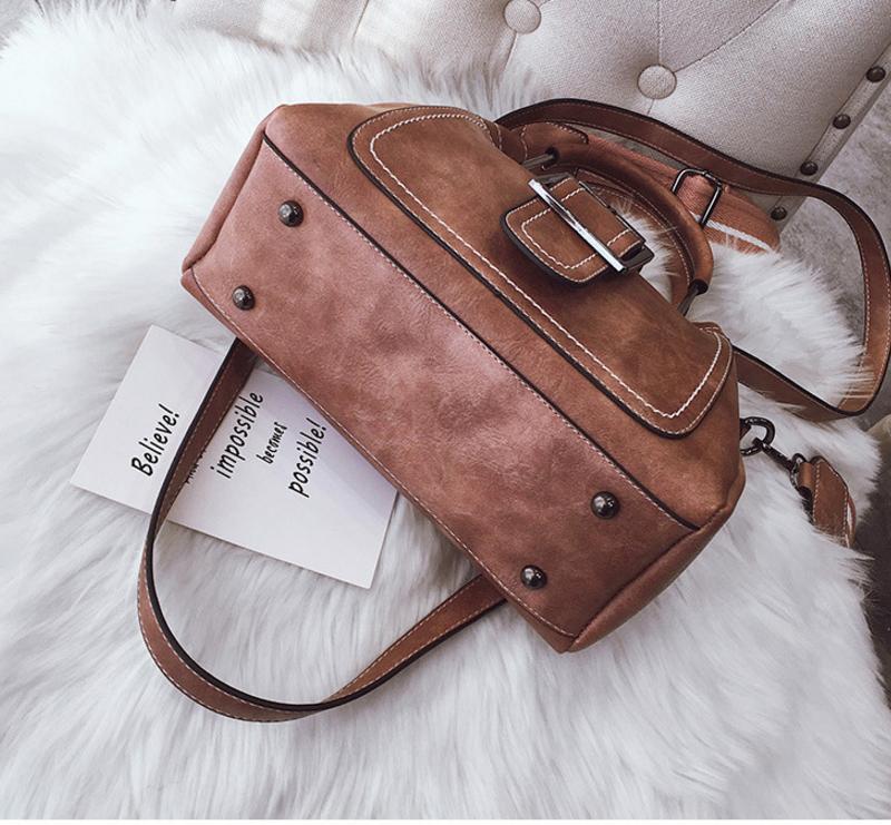 New European and American style vintage PU women handbag shoulder bag messenger bag 98