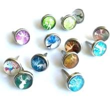 12 мм стеклянные стразы с драгоценными камнями, металлические украшения для скрапбукинга, винтажные бумажные украшения, цветы, лося, свадебные приглашения
