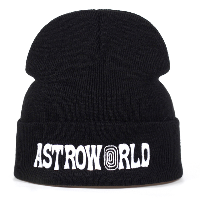 4c79866bbc0 ASTROWORLD Knit Cap 2018 Travi  Scott Beanie 3D Embroidery Astroworld Ski  Warm Winter Unisex Travis