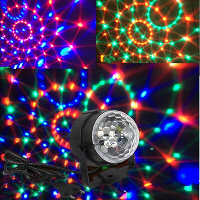 Spraakbesturing RGB LED Podium Verlichting kty effect 3 W Roterende ...