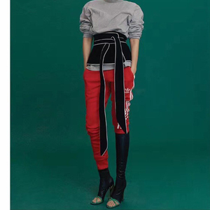 Image 4 - [EAM] 2020 New Spring Black White Hit Color Long Bow Bandage Exceed Width Belt Women Fashion Tide All match JA49101