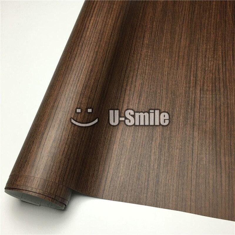 Teck voiture Grain de bois vinyle Wrap décalcomanie bois vinyle pour meubles muraux voiture taille intérieure: 1.24X50 m/rouleau (4ftX165ft)