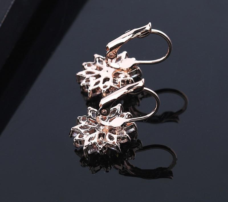 Darmowy Gift Box Luxury Kobieta Cyrkon Spadek Kolczyki Różowe - Modna biżuteria - Zdjęcie 3