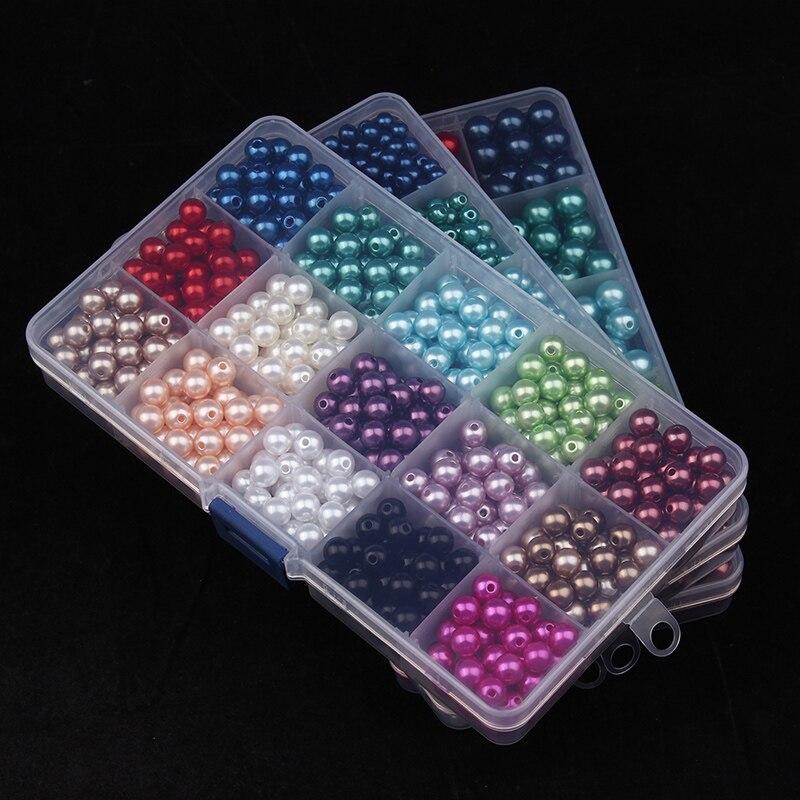 Prix pour En gros 300-1500 pc/boîte Mixte Couleurs 6mm/8mm/10mm Craft Perle Perles Boncuks pour Fabrication de bijoux Accessoires Perles En Beaucoup F2980
