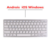 Wireless Bluetooth Keyboard 3.0 Keyboard Ultra-Thin Aluminum Alloy Office Gaming Keyboard for Android IOS Windows System