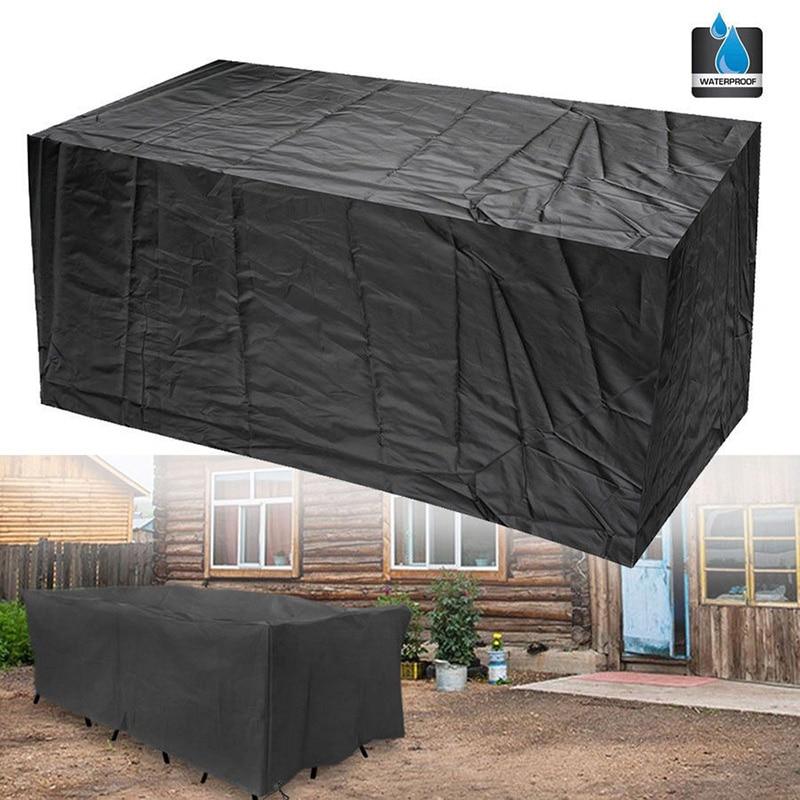 Hot Gczw 2 Pcs 6 Seater Waterproof Furniture Set Cover Shelter Patio Garden Rectangular Table Armygreen Home & Garden
