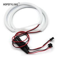 Free Shipping 1 SET 2X 131mm 2X 131 Mm White Cotton Light LED Angel Eyes For