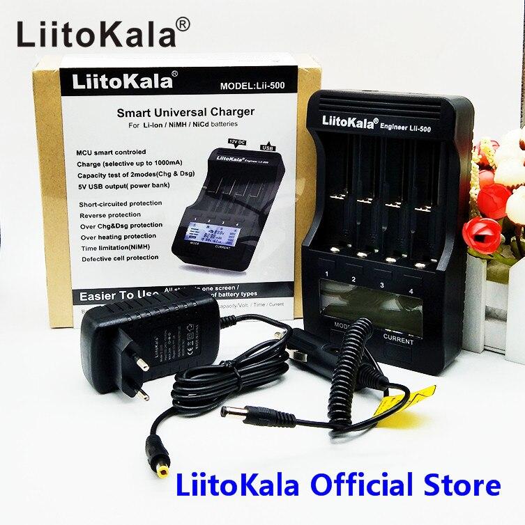 LiitoKala lii-500 LCD 3,7 V 1,2 V 18650 26650 16340 14500 10440 18500 20700B 21700 Ladegerät mit bildschirm