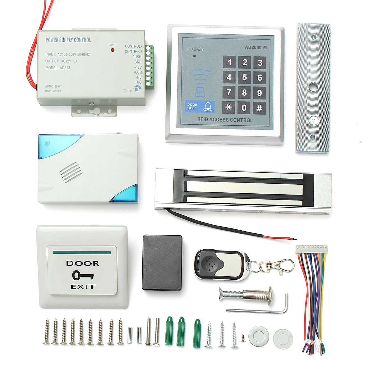 NEW 125KHz RFID ID Card Keypad Doorbell Door Lock Security Access Control System Kit Home Security Safety diysecur magnetic lock door lock 125khz rfid password keypad access control system security kit for home office