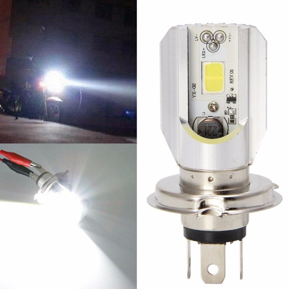 "7/"" Stock Glass Lens//Metal Headlight LED 6K 18//24w H4 Light Bulb Headlamp Pair"