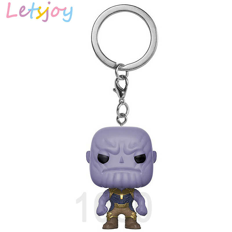 Letsjoy 4.5 cm pop spiderman homem de ferro Vingador Justice league THE galaxy guardião Thanos deadpool Keyring