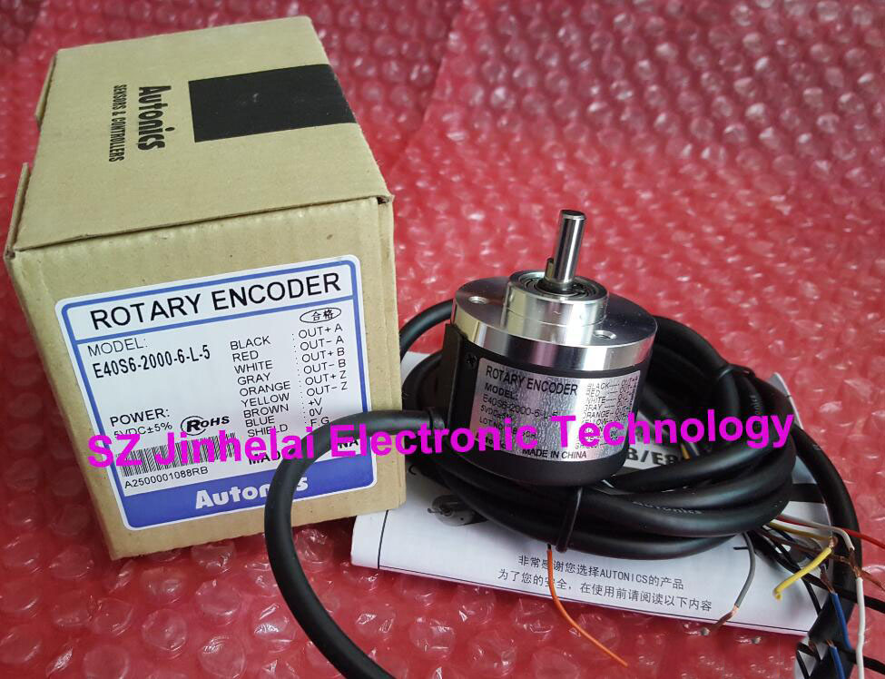 E40S6-2000-6-L-5 New and original AUTONICS Incremental rotary encoder 12-24VDC 100% authentic original e40s6 2500 6 l 5 autonics encoder