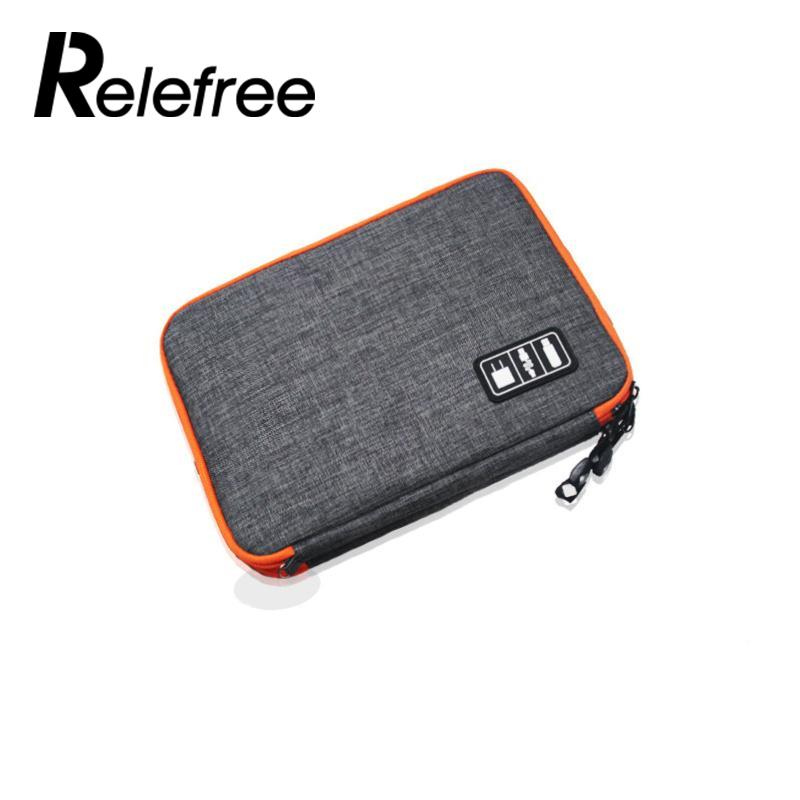 Relefree Outdoor Bag Travel Storage Bag Waterproof Digital Pouch Organizer Storage Case Bag Camping Pouch Kit Case