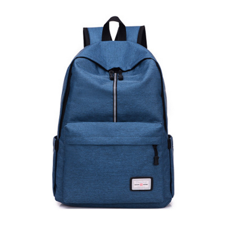 Brand casual canvas male and female backpack college high school boy girl laptop backpack travel backpack youth female schoolbag
