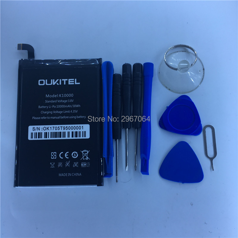 Mobile phone battery OUKITEL K10000 battery 5.5inch MTK6735P Mobile Accessories Give disassemble tool OUKITEL phone battery