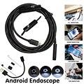 Lente de 7mm 1 m 2 m 5 m USB Endoscópio IP67 À Prova D' Água 6 LEDs UVC Android Smartphone OTG Android Inspeção Endoscópio Tubo Cobra câmera