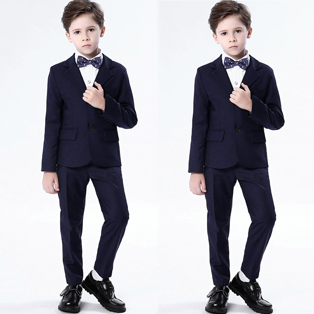 2018 best man handsome children costume suit Children Kids Boys Show Colorful Formal Suits Coat+Pants+Bow Tie+Shirt Suit #VD147 anime sakura akizuli nakuru cosplay costume blue suit shirt coat skirt tie d