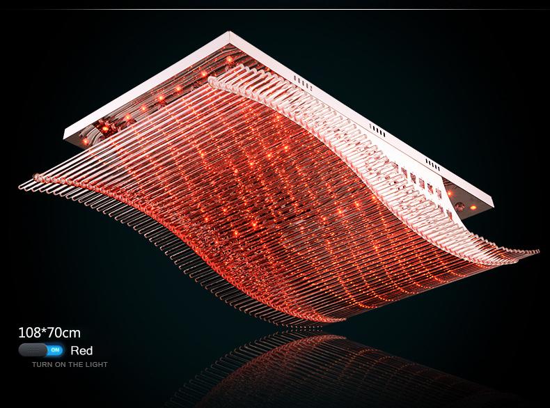 Luxury 4 Color Smooth Sailing Led Lamp K9 Crystal Modern Square Led Ceiling Lights (6)