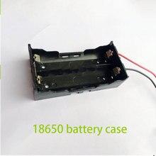 10pcs font b Storage b font Box Holder for 2 x18650 Battery Box 7 4v Case