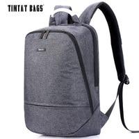 TINYAT Men's Canvas Backpack for 15.6 inch Laptop Backpack Travel softback women mochila Notebook School Bags for Teenages T850