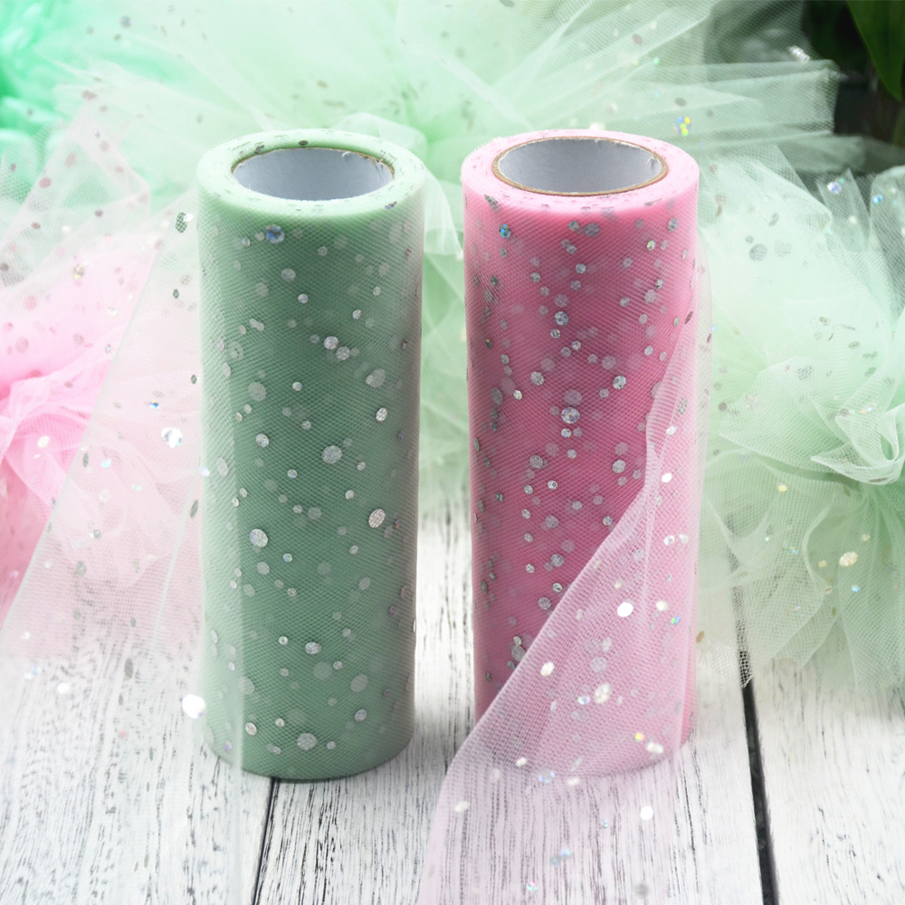 Party tulle 25 Yards Glitter Sequin Tulle Roll Table Runner wedding decoration baby shower organza babyshower flamingo party