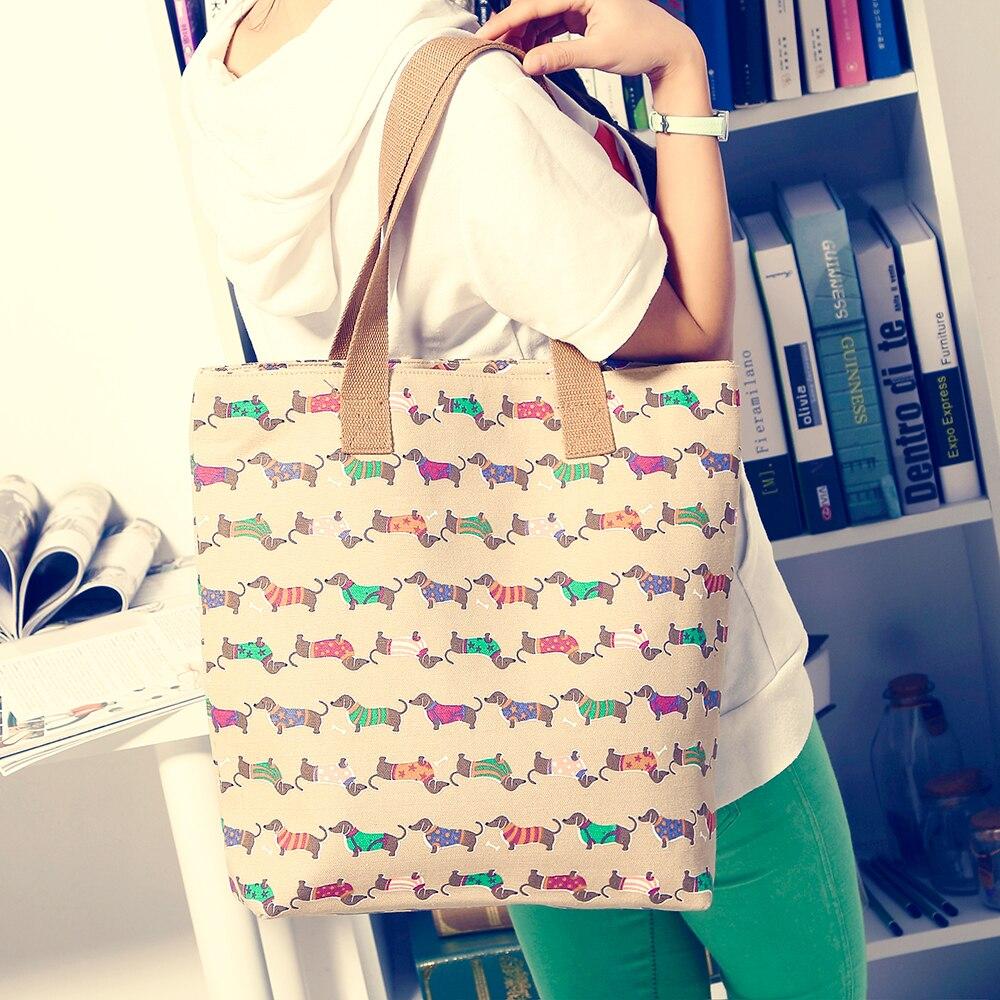 20% off high quality denim shoulder bag street fashion women handbag casual dachshund dog bag for women dachshund tote pavone