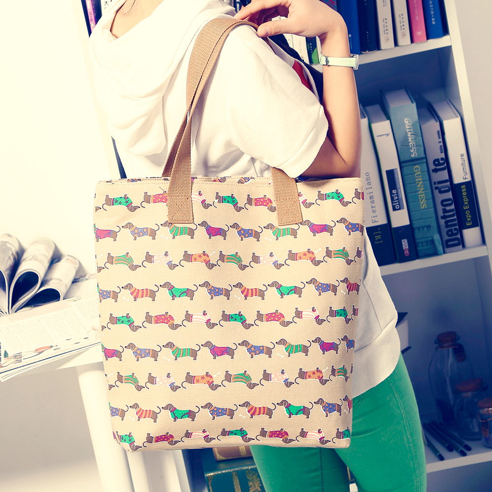 20% off high quality denim shoulder bag street fashion women handbag casual dachshund do ...