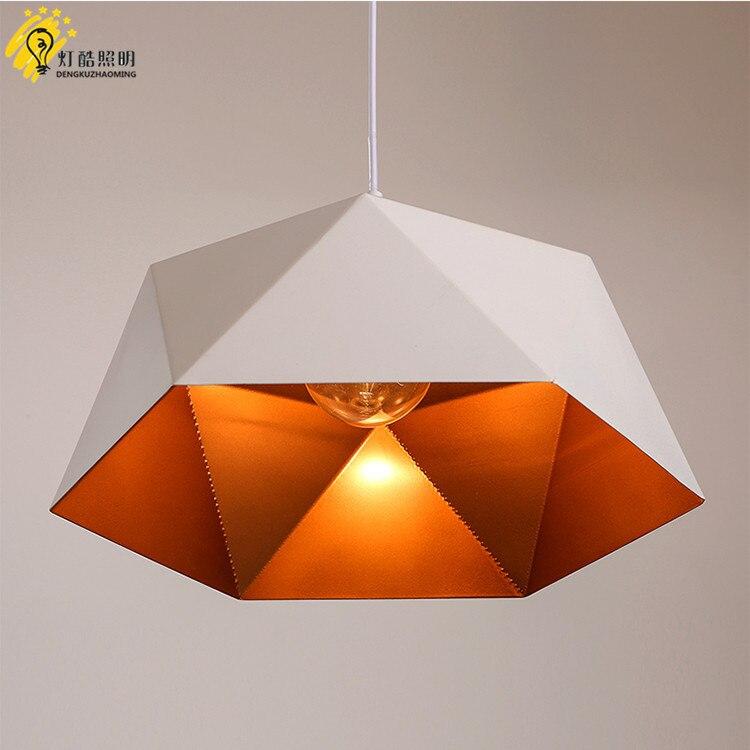 head geometry pot droplight cafe restaurant Industrial wind restoring ancient ways, wrought iron diamond pendant lamp - 3