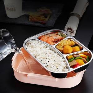 Image 4 - ONEUP 304 Ланч бокс из нержавеющей стали , новый японский стиль, Бенто бокс, кухонный герметичный контейнер для еды, для отправки посуды