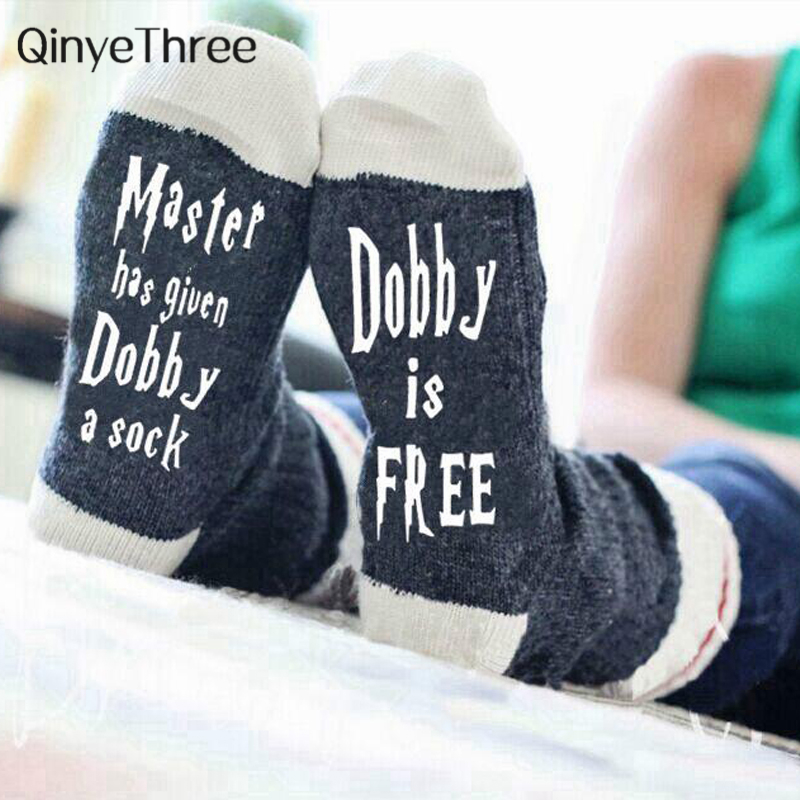 Women Wine Socks Print Letter Cute Autumn Spring Meia Funny Socks New Arrival Chaussette Novelty Femme Winter Warmly Meias