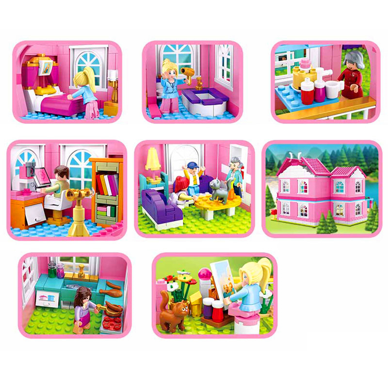 SLUBAN-0721-City-Girl-Friends-Big-Garden-Villa-Model-Building-Blocks-Brick-Compatible-LegoIN-Technic-Playmobil (2)