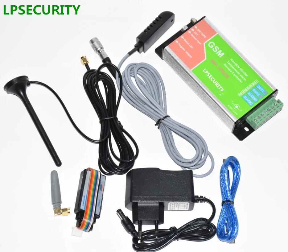 LPSECURITY GSM Remote Control Alarm Controller,Temperature Monitoring, Data Logger Report With Humidity Temperature Sensor