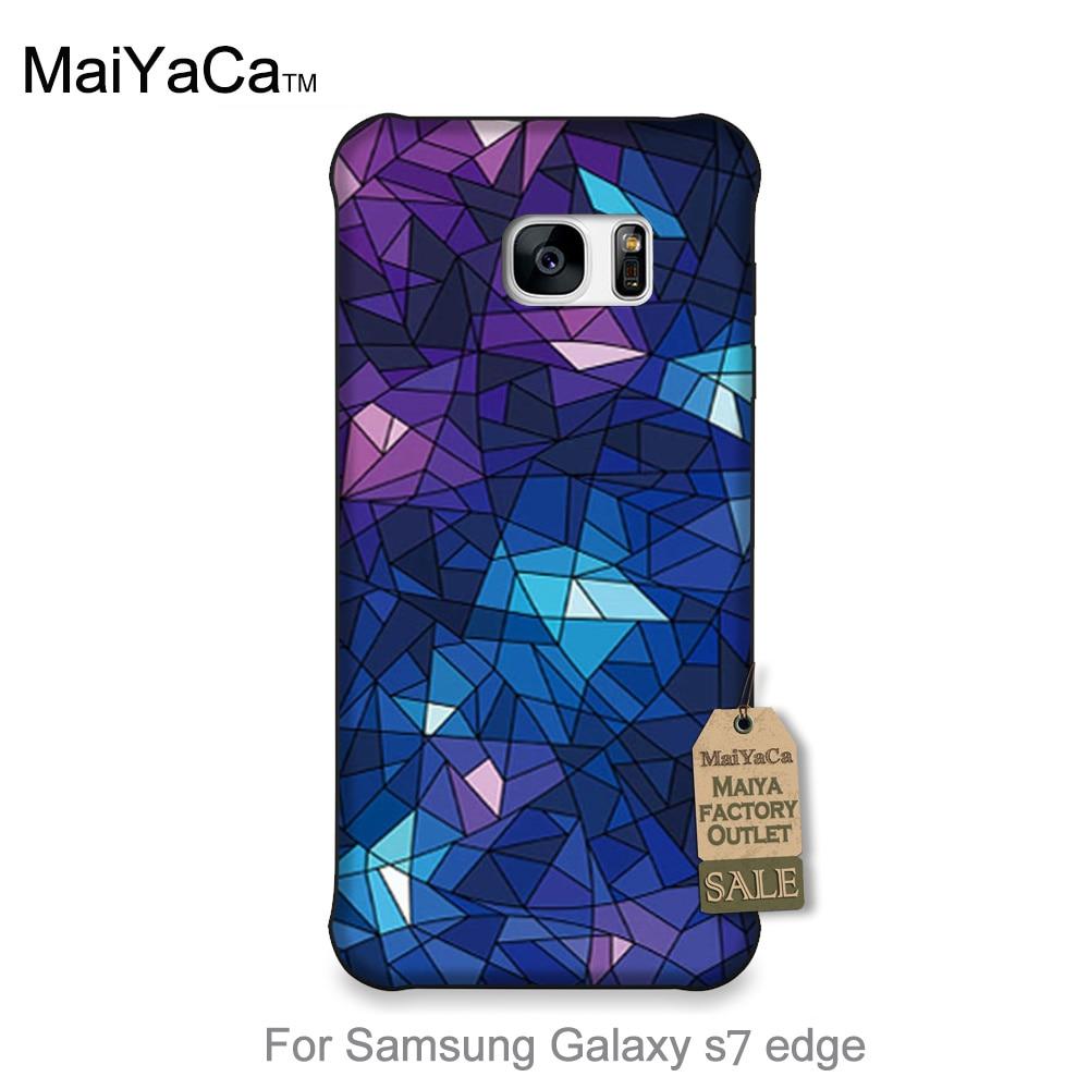 Accesorios del teléfono lindo azul púrpura del diamante espejo roto fragmentos p