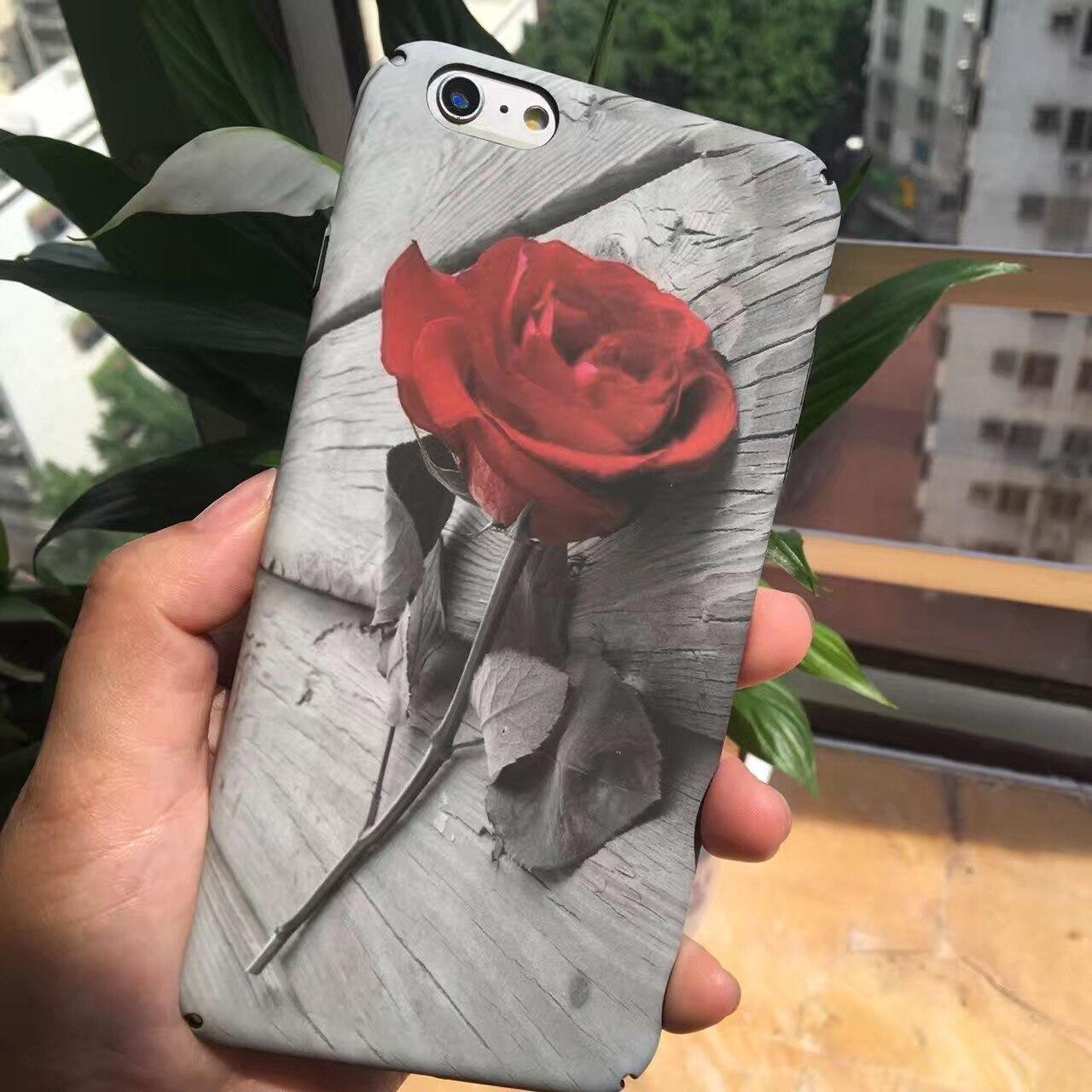 Luminous Beautiful Rose Peony Flower Case For iphone 6 6S plus 7 7Plus Phone
