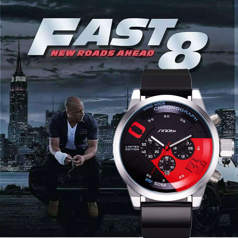 SINOBI часы Для мужчин Форсаж Хронограф Спортивные часы лучший бренд Для мужчин смотреть Для мужчин наручные часы reloj hombre Relógio masculino
