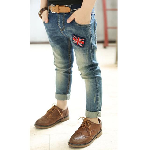 Calças de brim das Crianças jeans meninos frete grátis, 2015 de alta qualidade roupa do bebê, moda meninos calças para 3-15 anos de idade as crianças