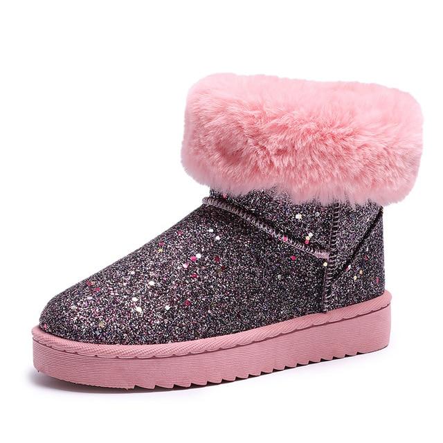 Warm Winter Snow Botas Woman Bling Bling Glitter Snow Winter Stiefel Woman Furry ca701d