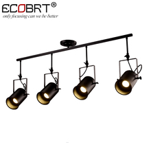 NEW Vintage Loft Ceiling Light Creative Iron Metal Hanging Lamp Fixture American Retro Decorative Lights 1/2/3/4