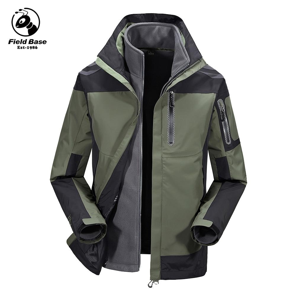 Field Base Winter Jacket Men Two Jackets In One Waterproof Casual Jackets Brand Windbreaker Windproof Winter Men Parka 63P60806A quantum field theory in curved spacetime