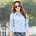 2016 Hot New Casual mulheres camisa Plus Size blusas feminino 100% algodão de manga longa Tops camisa xadrez 8 cores