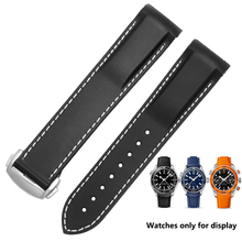 Silicone watchband Replacement Strap Rubber Sports band 20 22mm For Omega Hippocampus Men Cosmos Ocean Series