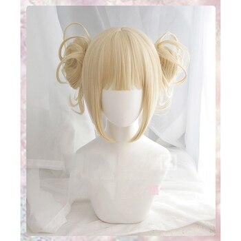 My Boku no Hero Academy Akademia Himiko Toga Короткий свет «конский хвост» цвета блонд термостойкий косплей костюм парик + Кепка >> Shanon Store