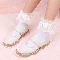 Princess sweet lolita socks Japanese lace cotton socks Lolita butterfly knot hand nailed pearl Socks cute student WGR045